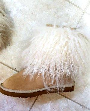 Tolle UGG Stiefel Größe 40 In Beige Mit TibetlammFell - Rarität