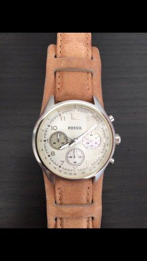 tolle Uhr von Fossil mit Lederband