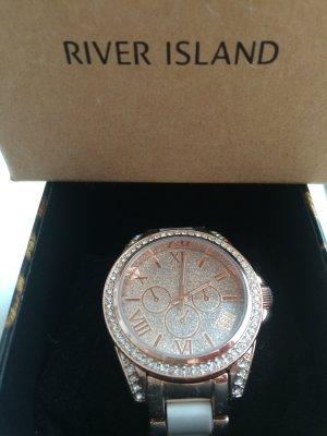 Tolle Uhr von River Island mit viel Bling Bling neu in OVP aus London