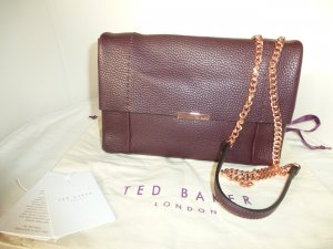 Ted baker Crossbody bag bordeaux-brown red leather