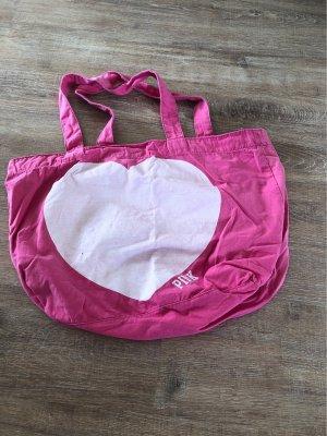 Pink Victoria's Secret Canvas Bag pink