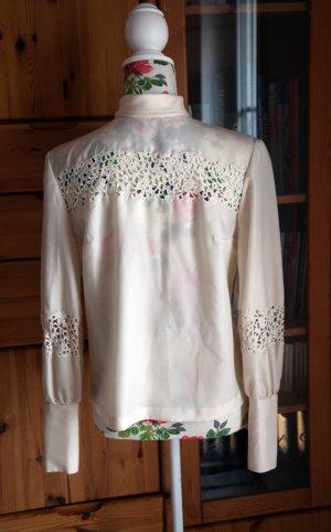 tolle vintage-Bluse mit echter Spitze