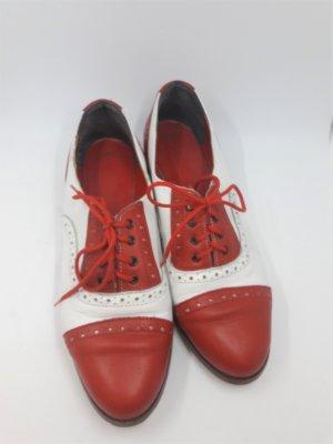 Richelieu blanc-rouge clair