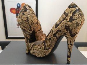 Tolle Vintage Schlangenlederschuhe / High Heels von Schuh Messmer