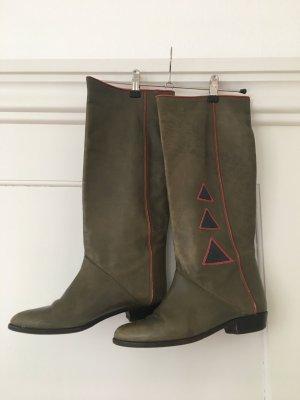 Vero Cuoio Western Boots multicolored leather