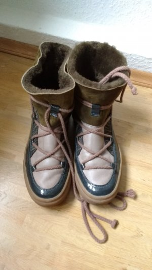 Ikkii Snow Boots multicolored leather