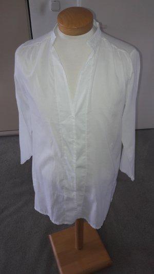 Blouse à manches longues blanc coton