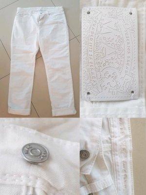 Mac 3/4 Length Jeans white