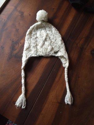 Tolle weiße Mütze von Tommy Hilfiger mit Bommel/ Wollmütze/ Wintermütze