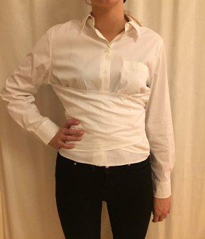 Blusa cruzada blanco Algodón