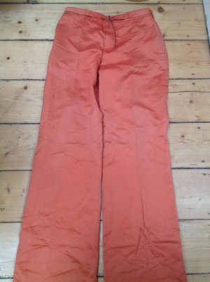 Strenesse Linen Pants dark orange mixture fibre