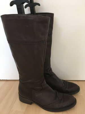 Wide Calf Boots brown leather
