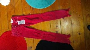 Zara Spijkerbroek rood