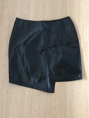 Vero Moda Falda de cuero de imitación negro