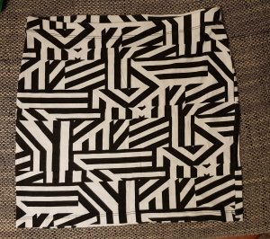 Amisu Minifalda blanco-negro