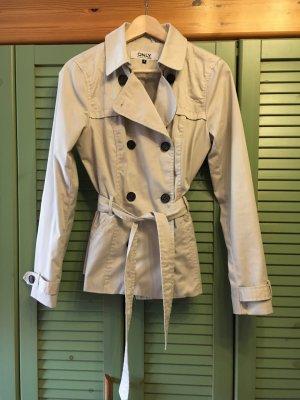 Toller beiger Trenchcoat der Marke Only in Größe 36, Übergangsjacke, Frühling