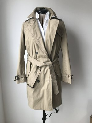 Toller beiger zweireihiger Trenchcoat von Zara mit vielen Details, wie neu