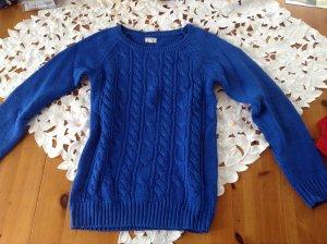 toller blauer Pullover, Strick