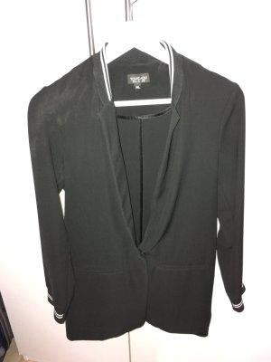 Topshop Blazer noir-blanc polyester