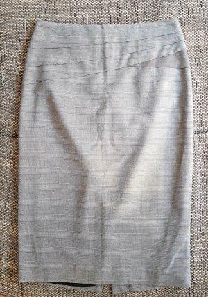 toller bleistiftrock grau gr.34 gestreift