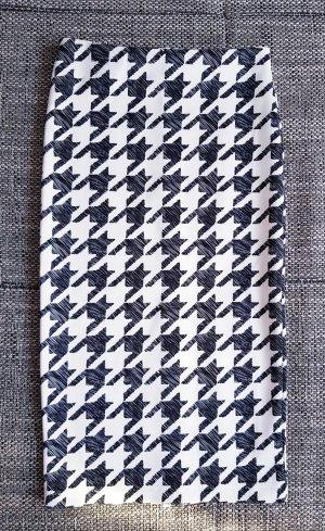 toller bleistiftrock schwarz weiß gr.xs h&m
