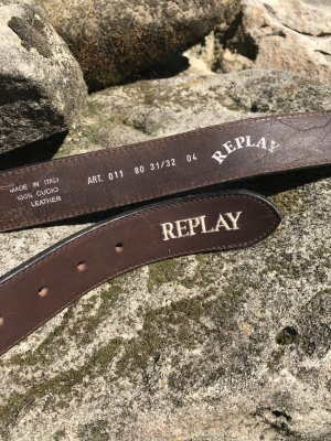 Replay Leather Belt multicolored leather