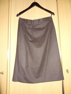 Wool Skirt brown-dark brown wool
