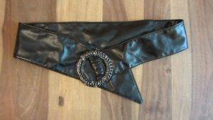Toller breiter Gürtel mit aufwendiger Schnalle in schwarz von Orsay – Gr. 80