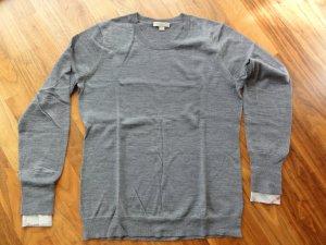 Toller Burberry Pullover aus Merinowolle in grau - 2 x getragen - Gr. XL