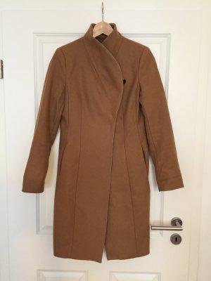 Toller Camel-Mantel aus Wolle von Zara, Gr. S