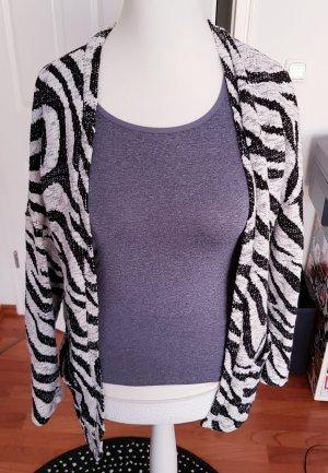toller cardigan von stradivarius gr.m zebra