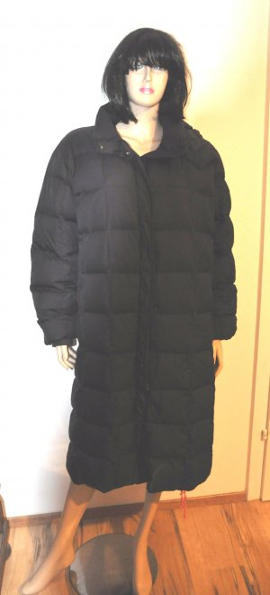 Down Coat black synthetic fibre