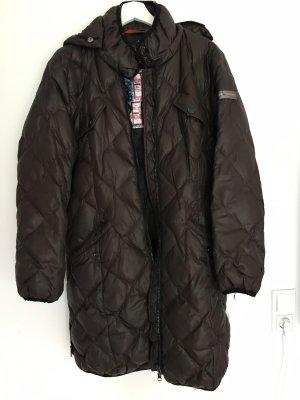 Frieda & Freddies New York Abrigo de plumón marrón oscuro-negro