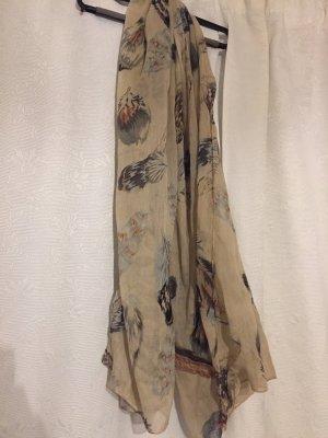 Toller, dünner Schal mit Federnmotiv