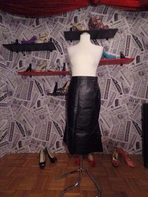 Ashley Brooke Leather Skirt black