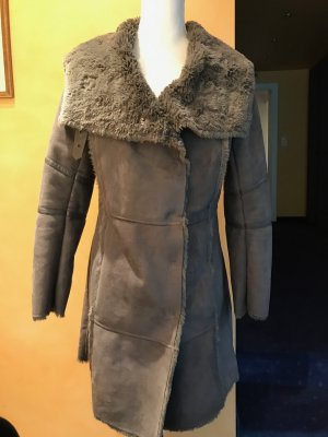 Sandwich Fake Fur Coat grey fake fur