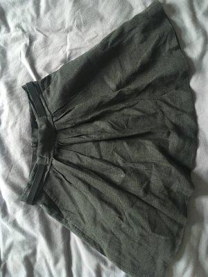 The Kooples Plooirok zwart-grijs