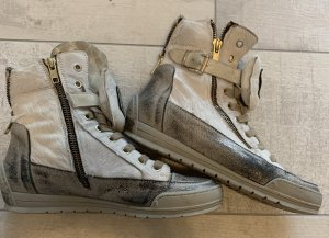 Candice Cooper Zapatillas deslizantes blanco-color oro