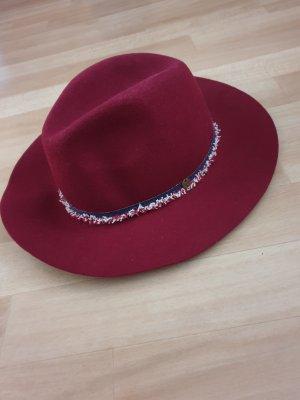 Esprit Vilten hoed neonrood