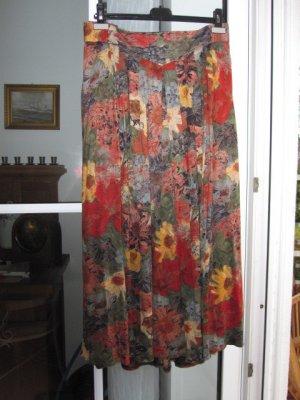 Falda larga multicolor Viscosa