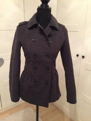 Toller grauer Mantel mit Doppelknopfleiste / h&m / Größe 34