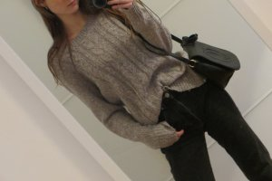 Cable Sweater grey