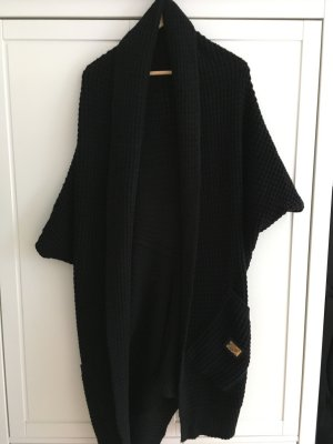 Coarse Knitted Jacket black-gold-colored