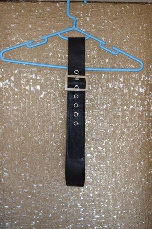 Studded Belt black-silver-colored imitation leather