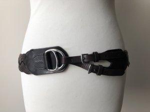 Ralph Lauren Cintura intrecciata marrone scuro Pelle
