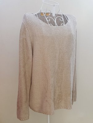 Biba Crochet Sweater gold-colored-beige polyacrylic