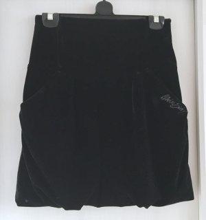 Toller High Waist Samt Minirock schwarz von Miss Sixty Gr. XS