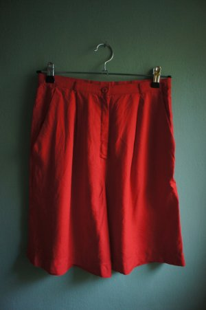 Culotte Skirt brick red viscose