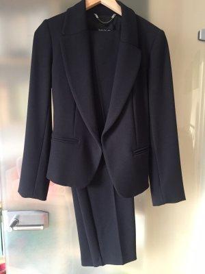 Toller Hosenanzug dunkelblau Max&Co Gr 38 mit High Waist Smoking Hose