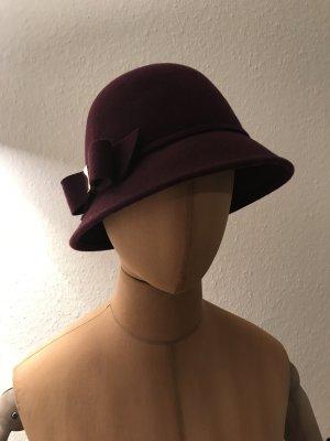 Accessorize Sombrero burdeos Lana
